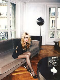 Clemence Poesy/  I would like a pair of stockings. I think these are very feminine and not old ladyish. no offense