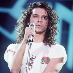Michael Hutchence, lead singer of INXS. One of the best male singing voices I've ever heard. He just had such texture and soul to his voice, one of the reasons why INXS in the 80s and 90s were phenomenal. Gone too soon. RIP.