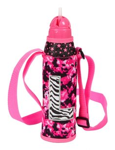 Dye Effect Zebra Initial Water Bottle | Girls Backpacks & School Supplies Accessories | Shop Justice