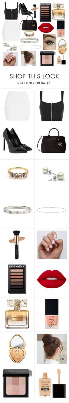 """""""Untitled #89"""" by kashish2308 ❤ liked on Polyvore featuring WearAll, Yves Saint Laurent, Michael Kors, Cartier, Suzanne Kalan, SoGloss, Lime Crime, Givenchy, NARS Cosmetics and Too Faced Cosmetics"""