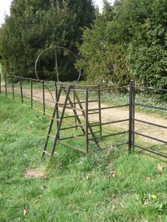 Kingston Lacy: an unusual stile (C) Chris Downer Kingston Lacy, Metal Fence, Survival Prepping, Stiles, Metal Working, Gate, Backyard, Outdoor Structures, Barns