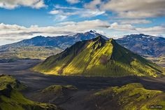 Mt. Mælifell (Measure-hill)  is located in southern Iceland