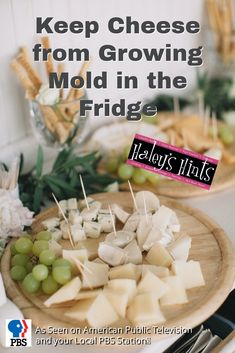 Keep Cheese from Growing Mold in the Fridge. Moldy cheese in the fridge is wasteful, costly and gross! Here's a great tip to keep your cheese mold free.