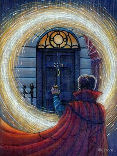doctor strange, sherlock, and 221b image