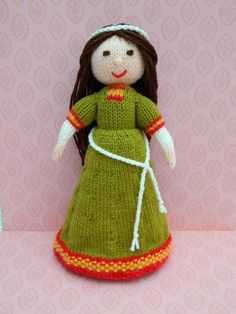 Looking for your next project? You're going to love Doll Knitting Pattern - A Medieval Doll by designer J.E. Marshall.