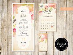 Kit Diseño ''Watercolor'' ♡ #love #amor #amour #amore #remindpress #design #invitaciones #wedding #boda #casamiento #novia #summer #maisamor #weddingideas #weddinginspiration #2015