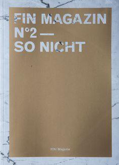 Fin Magazin #2 – So nicht | Slanted - 20€