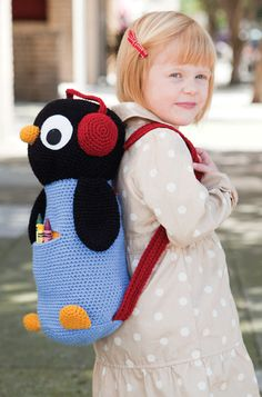 Bags – Knitting world and crochet Crochet Girls, Crochet For Kids, Crochet Baby, Knit Crochet, Crochet Backpack, Backpack Pattern, Crochet Animals, Crochet Toys, Puppy Backpack