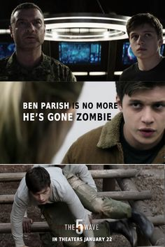 Ben Parish is no more… He's gone Zombie. The 5th Wave Movie, The Fifth Wave Book, The 5th Wave 2016, The 5th Wave Series, Hush Hush, Movies Showing, Movies And Tv Shows, Narnia, Percy Jackson