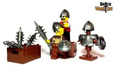 new custom lego weapon - holy water sprinkler. #Lego #Minifigure #BrickWarriors #customLego #toys #legoweapons #newproducts #legoaccessories