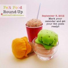 Felt Food Roundup at OneCreativeMommy.com 9/6/12