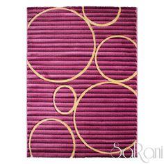 tappeto moderno twist varie dimensioni nero quadri soggiorno ... - Soggiorno Fucsia 2