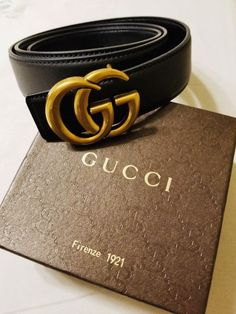 Gucci Leather Belt with Double G Buckle 115cm  fashion  clothing  shoes   accessories 9ab40a0421e