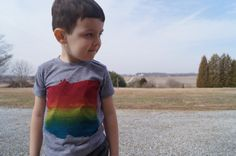 Rainbow Pride TShirt for Kids with OpenMinded by LittleFigs