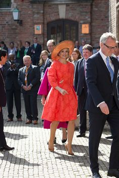 King Willem-Alexander and Queen Maxima Of The Netherlands Attend Four Freedoms Awards on April 21, 2016 in Middelburg Netherlands.