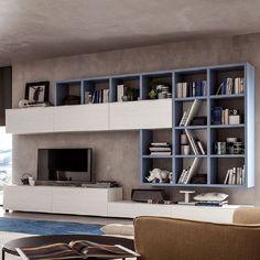 Elegant, ultramodern 'Allen' TV Unit by Santa Lucia
