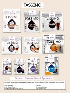Tassimo Syn values on all plans Aldi Slimming World, Slimming World Recipes, Syn Free Food, Turmeric Curcumin, Healthy Eating, Healthy Food, Healthy Recipes, How To Plan, Eating Healthy