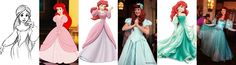Ariel dress evolution