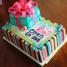 Amazing fondant colorful cake