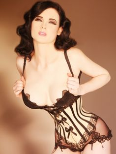 luv the lace trim on this corset