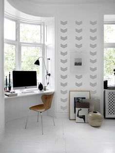 Double Chevron WALL DECAL by TheLovelyWall on Etsy
