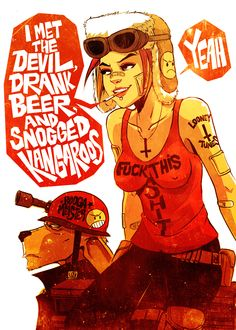 Tank Girl ~ Daniel Vega  This would be a great one to cosplay in some version. I'd need a Booga though.........