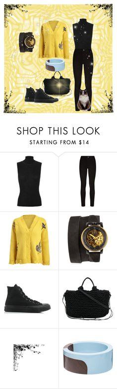 """Hummingbird sweater"" by feralkind ❤ liked on Polyvore featuring rag & bone, Paige Denim, Fob Paris, Converse, Muuñ and Marni"