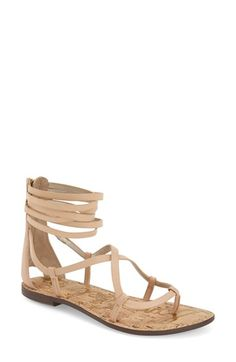 Free shipping and returns on Sam Edelman 'Ginette' Sandal (Women) at Nordstrom.com. Svelte, crisscrossing straps wrap the foot in a gladiator-inspired flat sandal topped with a cluster of thin leather straps and finished with a back zip closure for easy on and off. - where with charlie jade dress