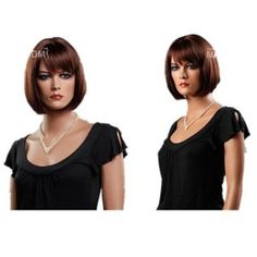 GOOACTION Fashion Charming European and American Style Brown Straight Bob Wigs For Women Lace Wigs For Ladies Hair Wigs by GOOACTION. $23.49. Hair Looks Shiny Natural and Touch Soft.. 100% Top Quality & Brand NEW. 100% Japanese Kanekalon (high quality one) made fiber wigs. Easy to care for and Wahs. Wash with normal shampoo in warm but not hot water. Shake off excessive water, wipe with a tower, and dry in air.. It's fit for your Parties,Cosplay & Daily Use.. The size is adjustab...