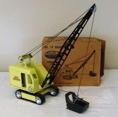 Early Tonka Toys Caterpillar Dragline Steam Shovel Truck 50's V RARE MINT IN BOX #TonkaToysMoundMinnUSA #Caterpillar
