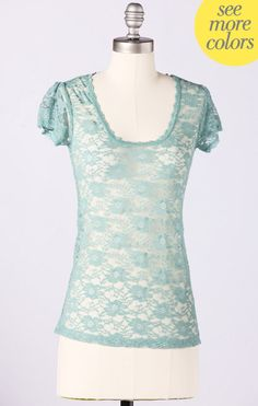 Lace Lover Tee from @DownEast Basics. So pretty!