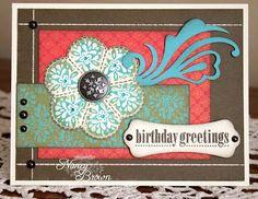 Love the flourish!  By Nancy Brown - CTMH.