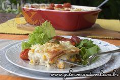 Quer caprichar no #almoço de domingo? Olha esta delicia de Peito de Frango ao Molho Branco Gratinado e é #SemGlúten.  #Receita aqui: http://www.gulosoesaudavel.com.br/2014/02/11/peito-frango-molho-branco-gratinado/