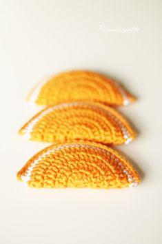 Prinsessajuttu: Virkatut hedelmälohkot, ohje Crochet Toys, Knit Crochet, Knitting, Sewing Ideas, Crocheting, Kids, Key Hangers, Creativity, Amigurumi
