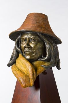 Chief Maquinna-bronze created and cast by Nathan Scott, www.sculpturebynathanscott.com  This is a limited edition sculpture