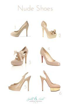 Nude wedding shoes wedding