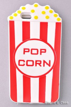 Iphone 6 case, popcorn case, moschino case, iPhone case, cute cell phone case, rubber iPhone case, christmas gift for her, trendy case by Scarlettaa on Etsy