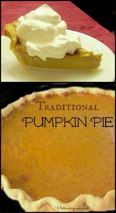 Traditional Pumpkin Pie Recipe  |  whatscookingamerica.net  |  #pumpkin #pie #thanksgiving #christmas
