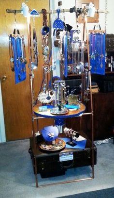 My Steampunk Jewelry Display :-D