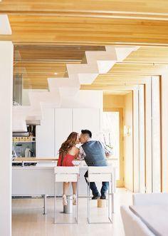 Modern home engagement shoot. #HomeDecor