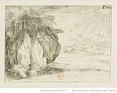 [La vie de la Mère de Dieu représentée par des emblèmes]. [24], [Le soleil et la pluie] : [estampe] / [Jacques Callot] - 1