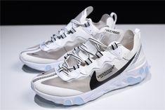 aae13005b90b Undercover x Nike Epic React Element 87 White Grey Black Men s and Women s  Size Kobe Shoes