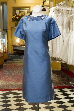 Cabaret Vintage - 1960s Blue Vintage Embroidered Dress, $145.00 (http://www.cabaretvintage.com/vintage-dresses/1960s-blue-vintage-embroidered-dress/)