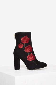 Intentionally Blank Rosa Embroidered Suede Boot - Boots + Booties | Best Sellers | Back In Stock