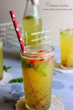 Soothing thirst quencher made from kiwi, lemon, mint and infused with cumin.