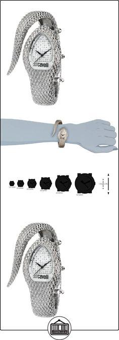 Just Cavalli R7253153515 - Reloj analógico de cuarzo para mujer, correa de acero inoxidable color plateado  ✿ Relojes para mujer - (Gama media/alta) ✿