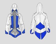 Would it be possible to make your own AC style beaked hoodie? People make beaked hoods for AC cosplay so it has to be possible. Assassins Creed Hoodie, Cosplay Diy, Cosplay Costumes, Halloween Costumes, Tactical Armor, Super Anime, Hoodie Pattern, Festival Coats, Character Outfits