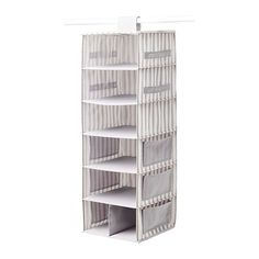 Even if you're lucky enough to have your own closet, there's a good chance it's going to be small. Velcro this cute organizer to any metal poll, and you'll have the perf place to store all your sweaters and tees. Hanging Storage with 7 Compartments, $11.99, ikea.com   - Seventeen.com