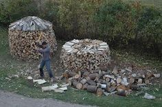 A Better Way to Stack Firewood. Never tried it, but I'll have to next time I need to do this.