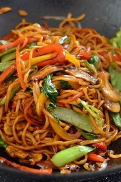 Vegetable Lo Mein Healthy authentic Vegetable Lo Mein SO MUCH BETTER than takeout! The post Vegetable Lo Mein appeared first on Nudeln Rezepte. Veggie Recipes, Dinner Recipes, Cooking Recipes, Healthy Recipes, Easy Recipes, Dinner Ideas, Thai Food Recipes, Wok Recipes, Asian Noodle Recipes